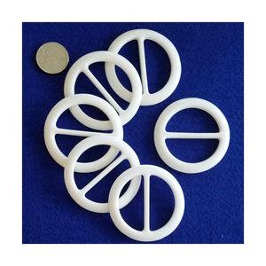 Accessories - 6pc. Scarf & T-Shirt Slide, Buckle- Round- White